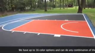 Knicks Basketball Court with a Fathead Logo