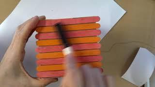 정리함 만들기-나무막대 꾸미기와 흡연예방 문구 쓰기