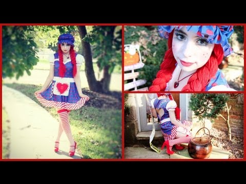 Rag Doll Halloween Tutorial! (Makeup, Hair, & Costume) - YouTube
