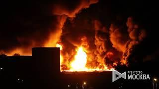 Пожар на складе на северо-востоке Москвы