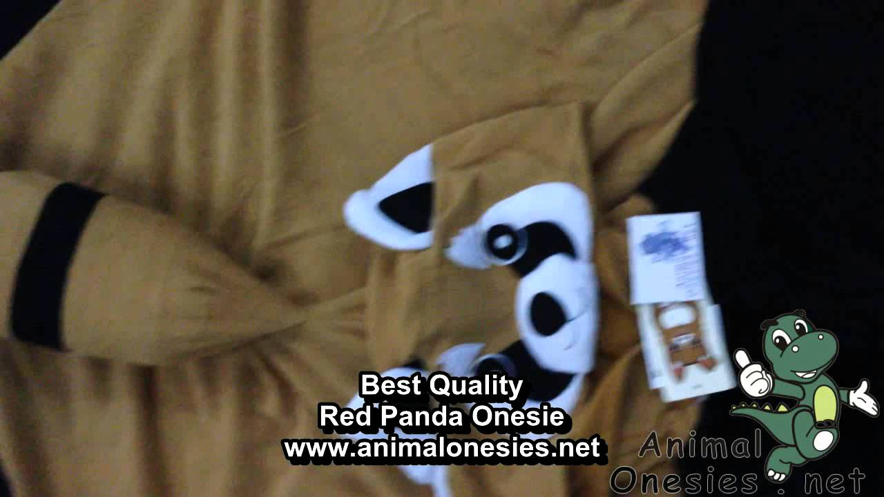 Image of: Kigurumi Animal Hionesiescom animalonesiesnet Red Panda Onesie Kigurumi Pajamas Youtube