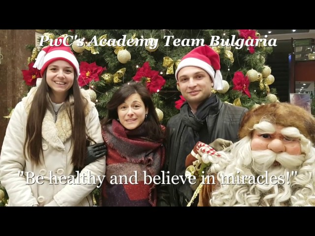 Merry Christmas and Happy New Year from PwCs Academy Bulgaria