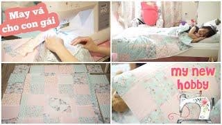 Vlog Thường Ngày ♥ Đi mua máy may & vải may mền gối mùa Hè cho con gái   mattalehang