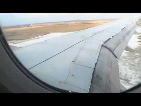 Ufa airport landing with S7 A319 - посадка в аэропорту Уфы