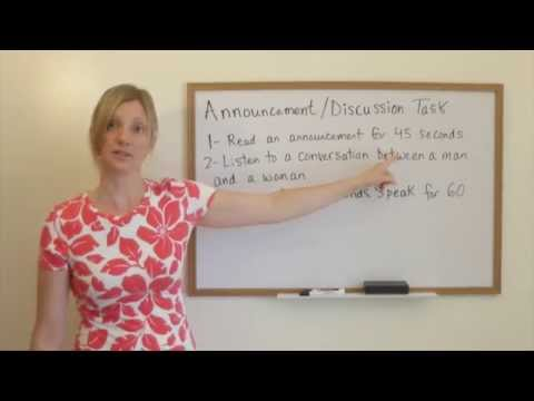 TOEFL Lesson - Speaking Question #3 with Kathy