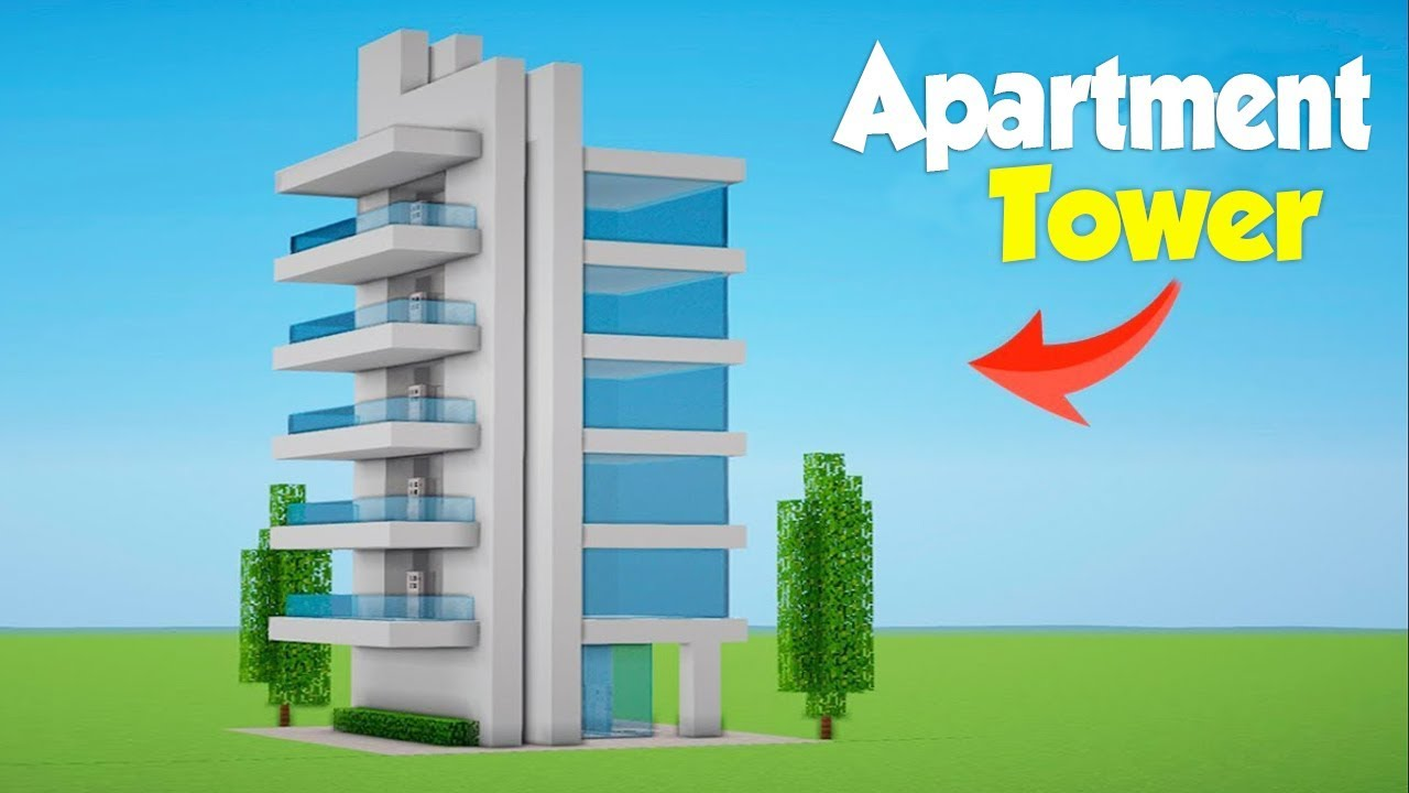 Minecraft How To Build A Modern Hotel Tower 1 House Tutorial