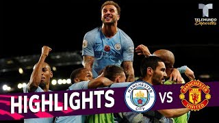 Manchester City vs. Manchester United: 3-1 Goals & Highlights | Premier League | Telemundo Deportes