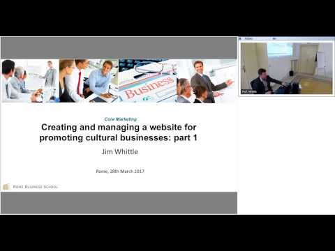 Lecture on Web Marketing - Online Master in Arts and Culture