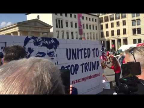 Stop Trump demonstration Berlin 23.09.2016