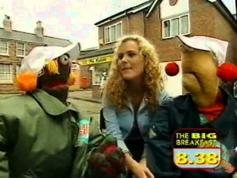 Coronation Streets Tracy Shaw with Zig and Zag