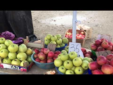 РЫНОК В ПРОХЛАДНОМ.) 50 Cents For One Kilo Of Great Apples! Prices In Kabardino-Balkaria.