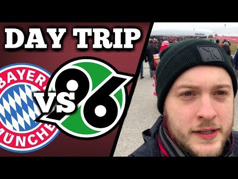 DAY TRIP: BAYERN MUNICH VS HANNOVER 96 | CRAZIEST TWO MINUTES I'VE EVER SEEN!