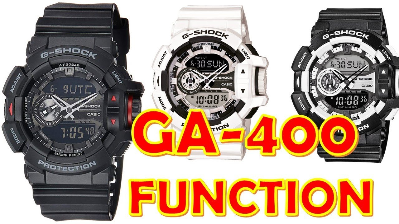 buy popular 6b3dd 7c248 G-Shock GA-400 Review Functions module 5398