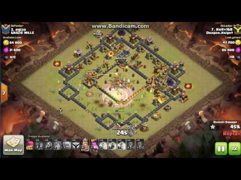 Clash of Clans cland DRagon_KNigHt town 10 vs town11 *3