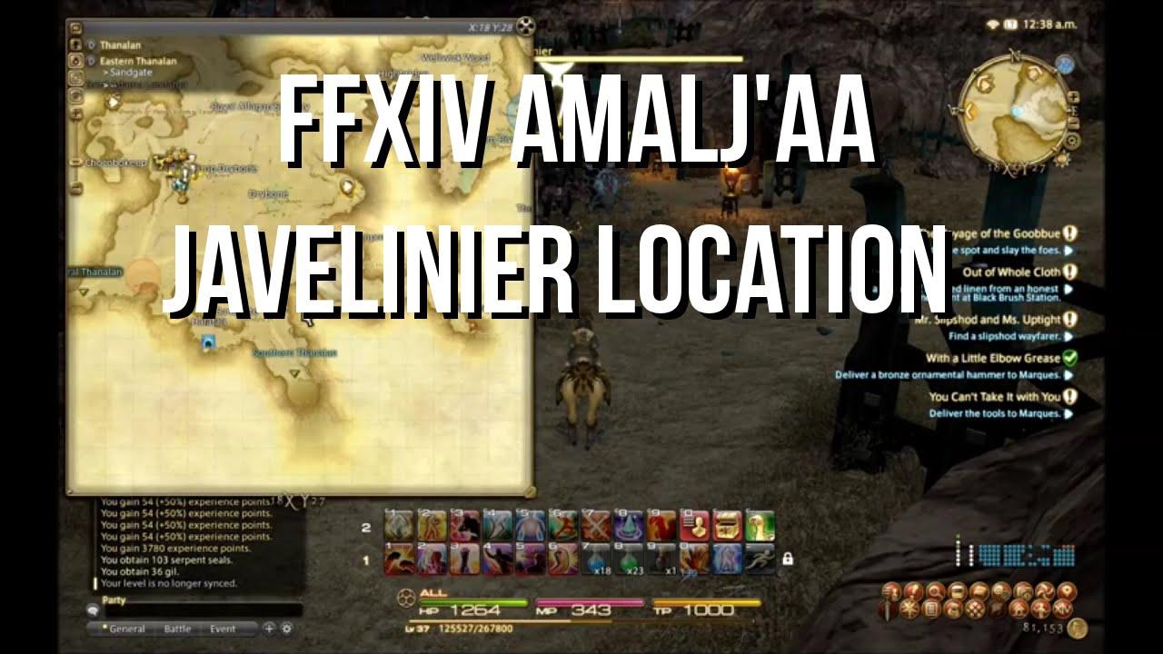 FFXIV Amaljaa Javelinier YouTube