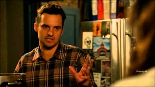 New Girl Funniest Scene- Popcorn Machine -Season 4 Episode 17