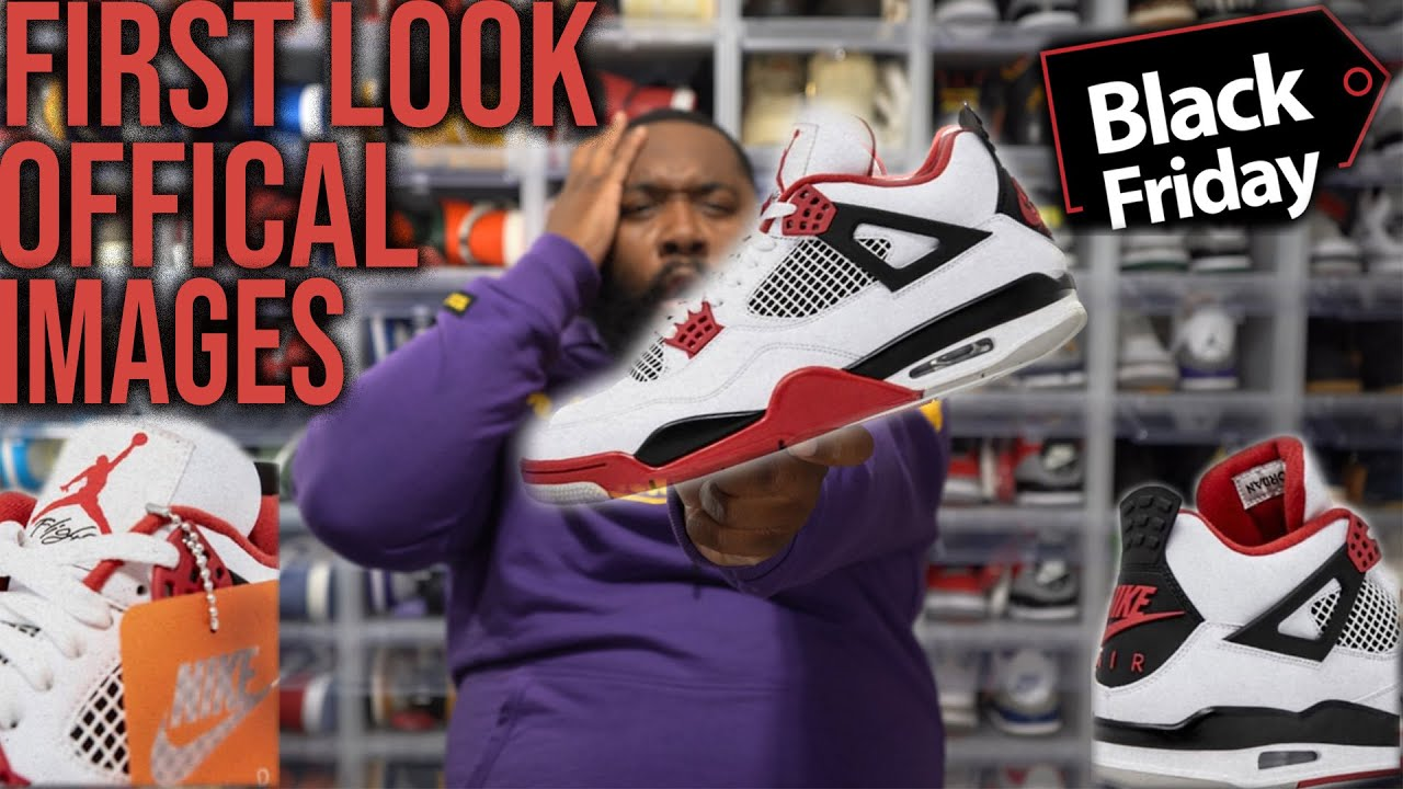 First Look Air Jordan 4 Fire Red Nike Air 2020 Black Friday 2020 Jordan Release Youtube