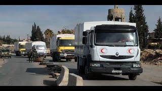 أخبار عربية - اصابة شخص اثر تعرض قافلة مساعدات لاطلاق نار في ريف دمشق