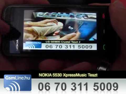 NOKIA 5530 XpressMusic Teszt | www.GsmLine.hu