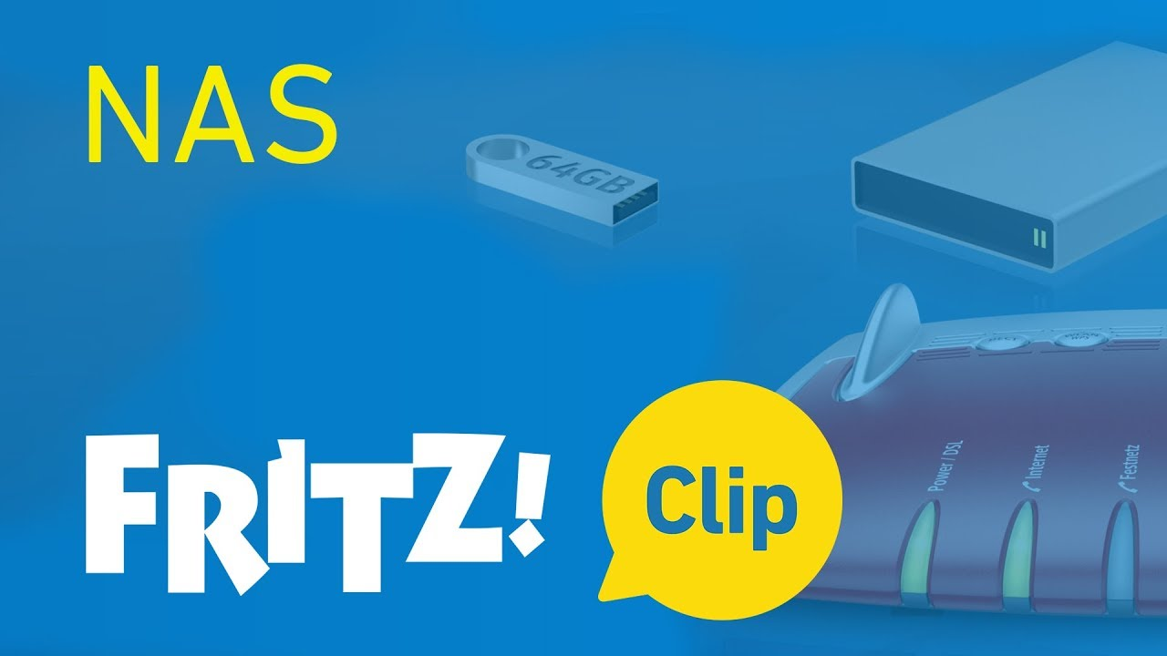 FRITZ! Clip – La FRITZ!Box en tant que stockage réseau (NAS)