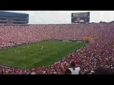 Cristiano Ronaldo Amazing Ovation in Michigan Stadium