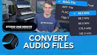 How to Convert Audio Files #StudioOneMinute