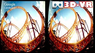 3D Roller Coasters Z VR Videos 3D SBS Google Cardboard VR Experience VR Box Virtual Reality