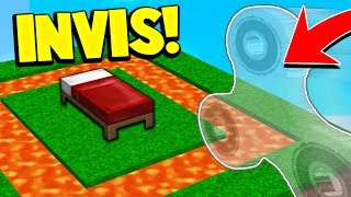 INVISIBLE FIDGET SPINNER CHALLENGE! (Minecraft BED WARS)