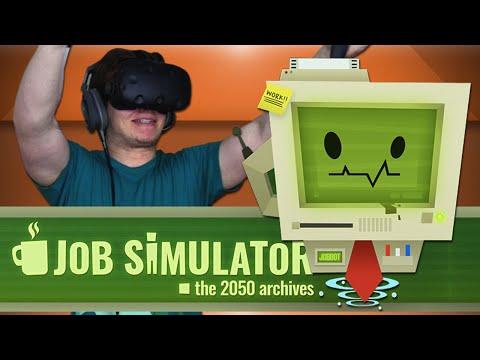 I HAVE A NEW JOB!! - Job Simulator HTC Vive Gameplay