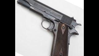 pistola colt 45 serie 1911 em ao nos alvos metlicos