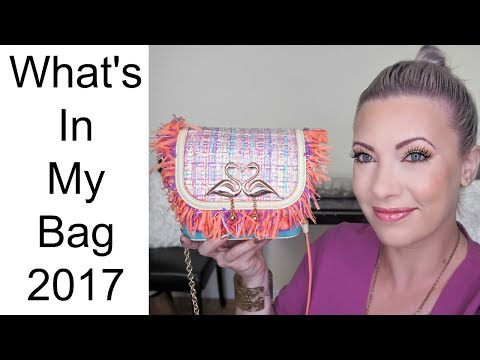 WHATS IN MY BAG JULY 2017: Sophia Webster Claudie Flamingo bag review