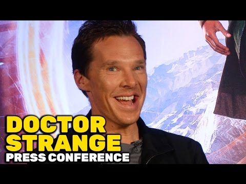"""Doctor Strange"" FULL press conference with Benedict Cumberbatch, Tilda Swinton, Mads Mikkelsen"