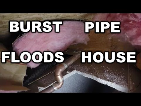 Frozen water pipe BURST inside home | THE HANDYMAN