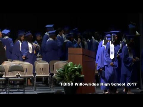 Fort Bend ISD Willowridge High School Graduation 2017