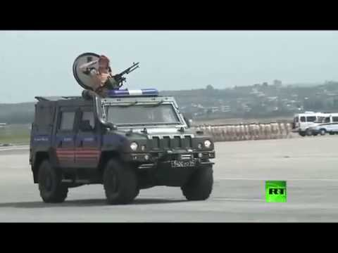MAY 9 2017 joint Syrian-Russian celebrations in Hmeimim's military base-Syria