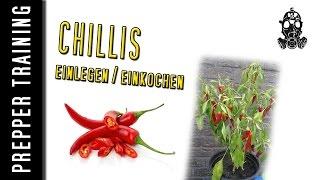 Prepper - Chillis einlegen / einkochen |Haltbar machen| German HD 1080p