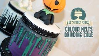 Dripping cake effect using colour melts Renshaws