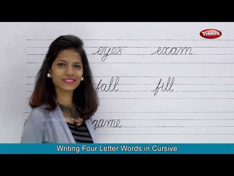 Two Letter Words | Three Letter Words | Four Letter Words | Cursive Writing Practice For Children