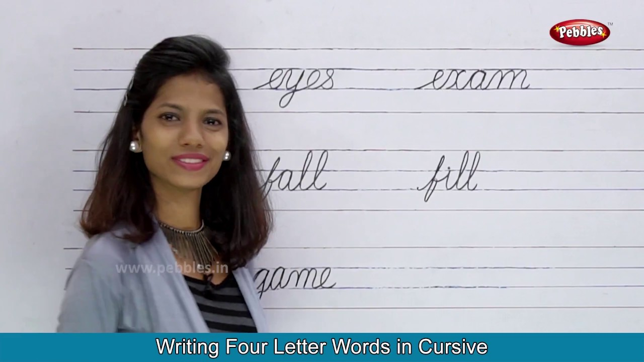 Two Letter Words Three Letter Words Four Letter Words Cursive