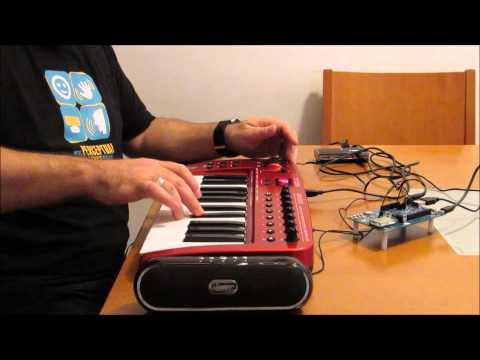 MIDI SoundFont Synthetizer With Intel Edison and Fluidsynth