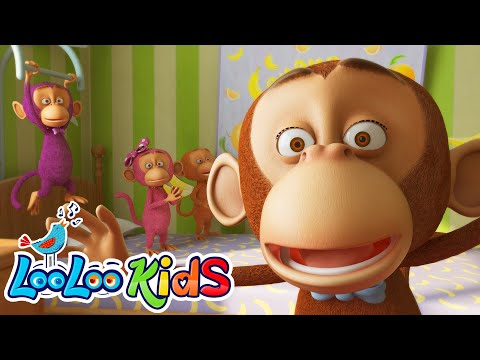 Five Little Monkeys - THE BEST Song for Children | LooLoo Kids