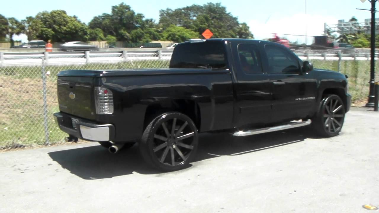 877 544 8473 26 Inch Dub Shot Calla Machine Black Wheels 2009 Chevy