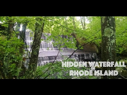 Large Hidden Waterfall in Rhode Island!