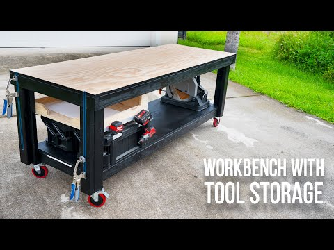 How To Make A Workbench Diy Woodworking Youtube