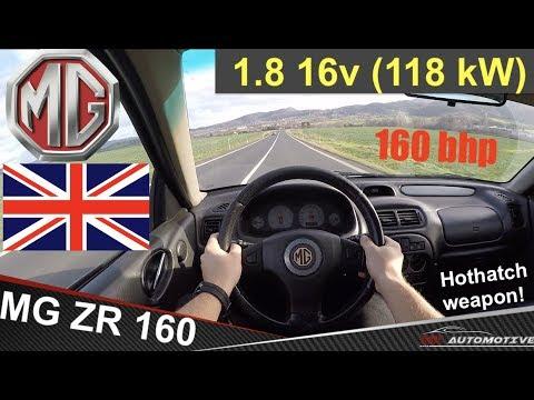 MG ZR 160 118 KW (2002) - POV Test Drive + Acceleration 0 - 200 Km/h