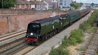 34067 Tangmere Dorset Coast Express -46233 Dutchess Of Sutherland Rugby To Bristol. 2-3 9 2015