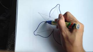 How to draw hibiscus flower