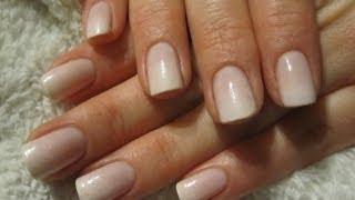 Easy wedding sponge french manicure / Łatwy ślubny ombre french manicure