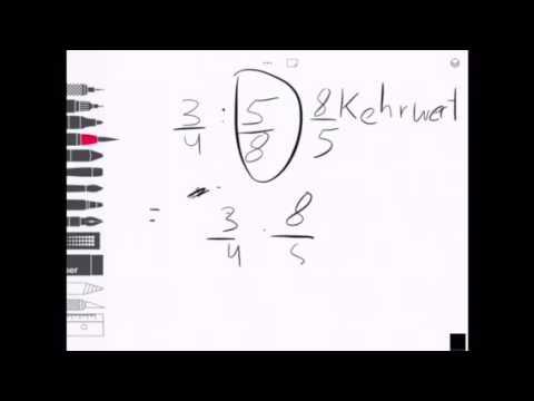brüche multiplizieren und dividieren - youtube