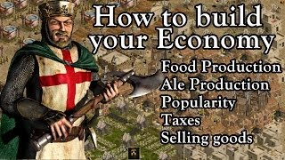 Stronghold Crusader - How to build your Economy   Tutorial w/ .:NightMare:. [1080p/HD]